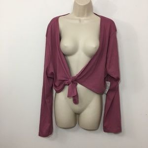 Lane Bryant Venezia blouse top  shoulder wrap 18